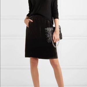 J.CREW black velvet elastic skirt